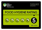 Food hygene rating - 5, very good